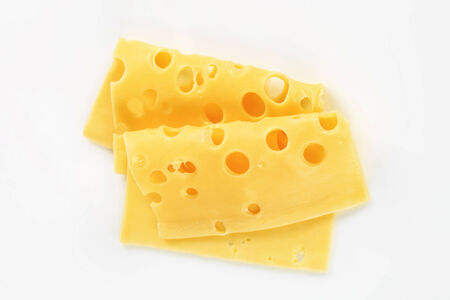 swiss cheese: Thin slices of Swiss cheese