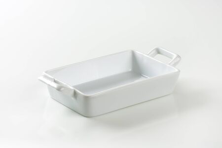Porcelain lasagna pan with handles on both ends photo