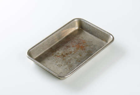 bakeware: Used roasting pan - no handles Stock Photo