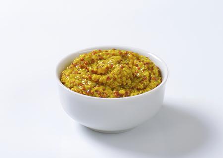 Bowl of coarse grain mustard