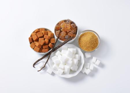 Still life of various types of sugar in bowls Stock fotó - 37085395