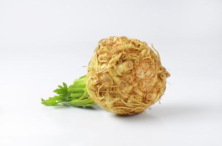 apium graveolens: Fresh celeriac (Apium graveolens var. Rapaceum)