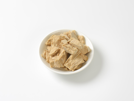 leavening: Pieces of compressed fresh yeast