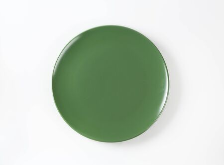 rimless: Daily use round green dinner plate
