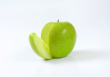 wedge: Green apple - a wedge cut off
