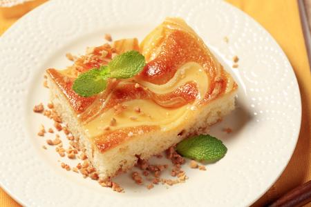 custard slice: Slice of custard cream sponge cake Stock Photo