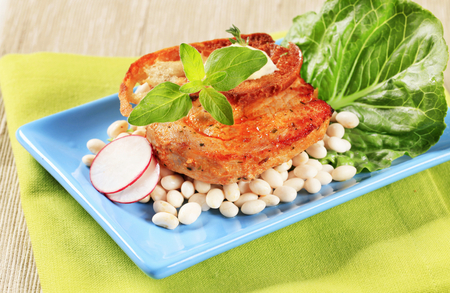 lima beans white beans: Marinated pork with white beans