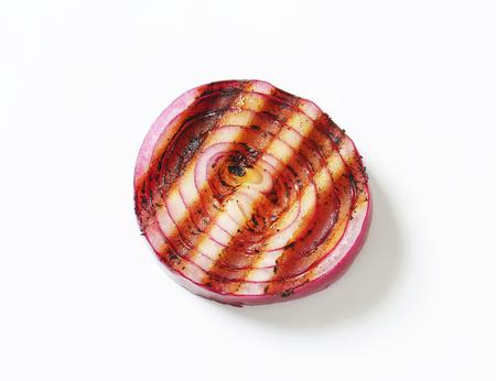 onion slice: Grilled onion slice - studio shot Stock Photo