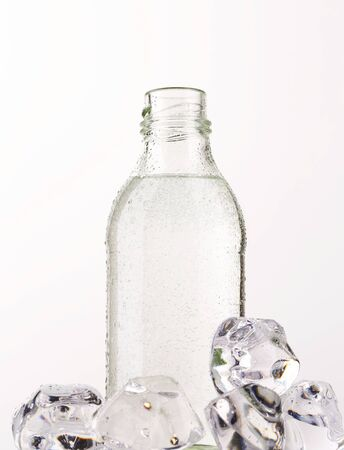 purified water: Purified water in a glass bottle Stock Photo