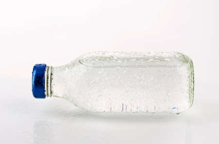 purified: Purified water in a glass bottle Stock Photo