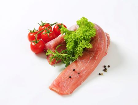 pork tenderloin: Raw pork tenderloin - studio shot Stock Photo