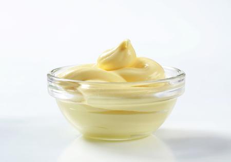 Bowl of creamy salad dressing spread