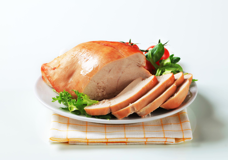 chicken breast: Sliced roast skinless turkey breast