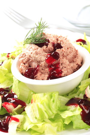canard: Delicious meat and liver spread with cranberry sauce
