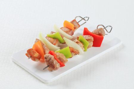 shish: Shish kebabs on cutting board
