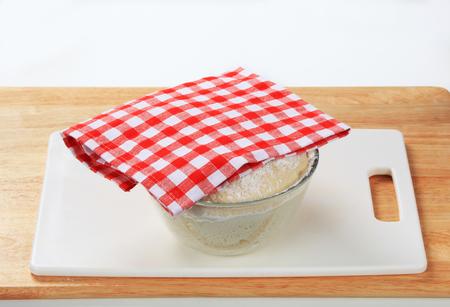 levadura: masa de levadura fresca en un tazón
