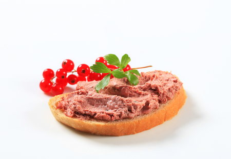 pate: Slice of bread and liver pate