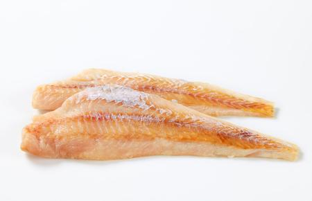 haddock: Studio shot of fresh fish fillets