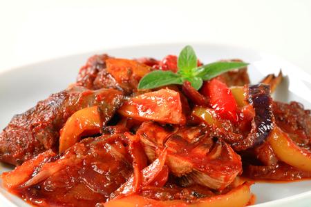 higado de pollo: Salteado de h�gado de pollo y pimiento