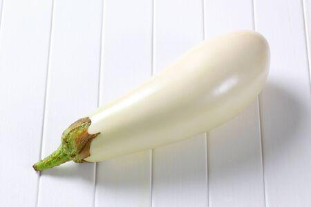 aubergine: Fresh white aubergine Stock Photo