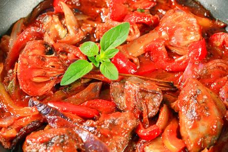 stir fry: Preparing chicken liver stir fry