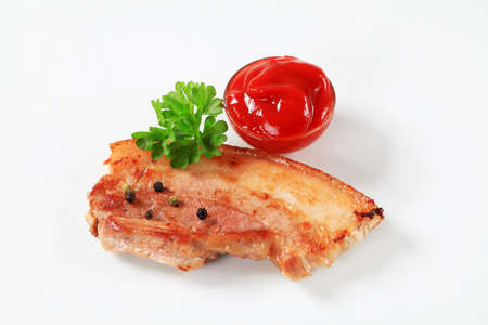 belly pepper: Slice of pan fried pork belly and tomato sauce