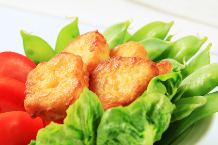 fritters: Savory fritters with fresh vegetables Stock Photo