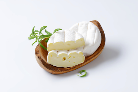 rind: soft creamy cheese with white rind