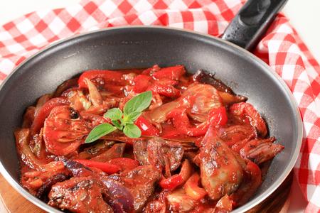 higado de pollo: Preparación salteado hígado de pollo