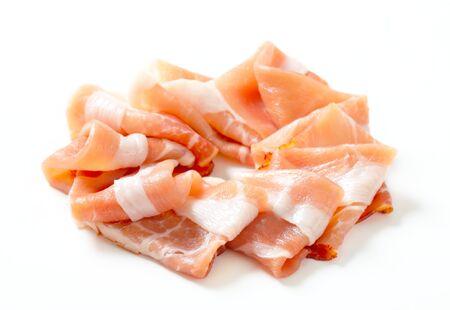 Thin slices of Parma ham Stock Photo