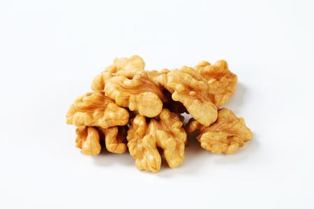 shelled: Heap of fresh shelled walnuts