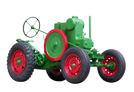 collectible: Collectible antique toy model tractor Stock Photo