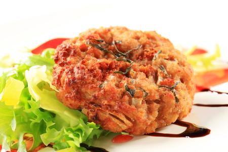 balsamic: Vegetable burgers with balsamic vinegar sauce