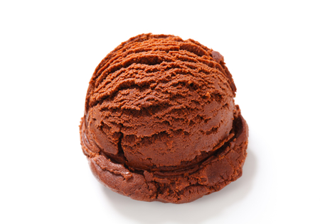 chocolate ice cream: Scoop of chocolate ice cream