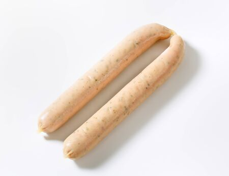 weisswurst: German veal and pork sausages