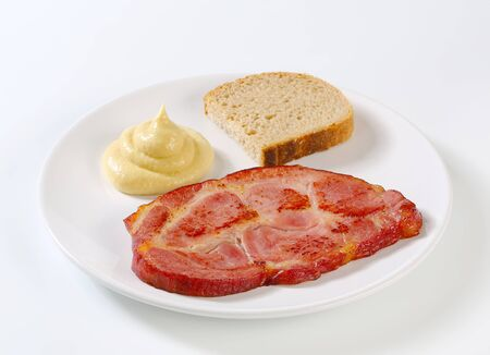 dollop: Smoked pork  with bread and mustard sauce