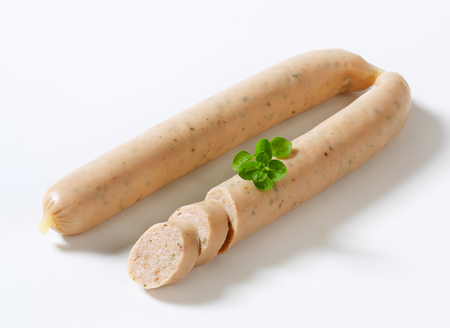 veal sausage: German veal and pork sausages
