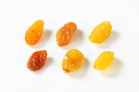 sultana: Studio shot of sultana raisins Stock Photo