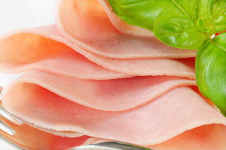 thinly: Detail of thinly sliced ham