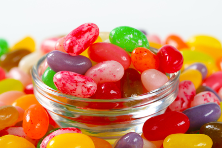 jelly beans: Assorted fruit flavored jelly beans