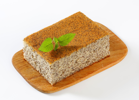 poppy seed: Poppy Seed Cake on cutting board Stock Photo