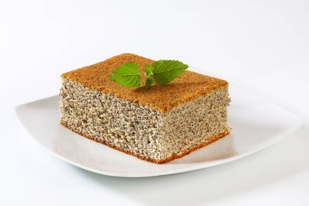 quick snack: Piece of poppy seed cake