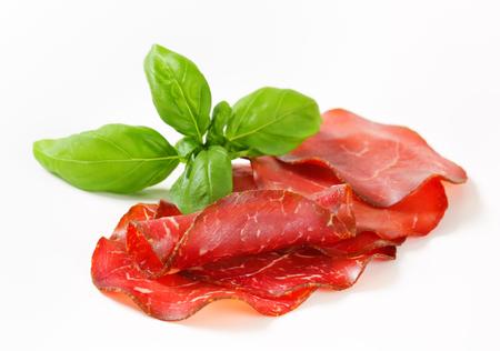 specialit�: Appenzeller Mostbr�ckli - specialit� carne svizzera Archivio Fotografico