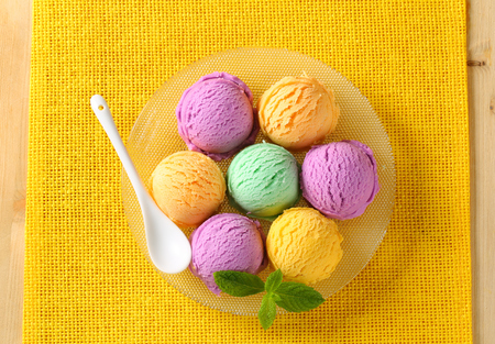 flavors: Scoops of ice cream - assorted flavors