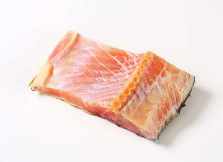 boned: Studio shot of raw carp fillet