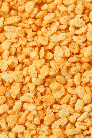 full frames: Breakfast cereal - Plain rice krispies Stock Photo