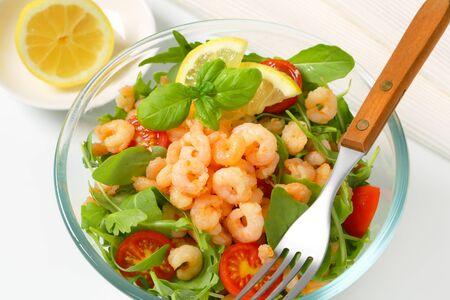 Bowl of spicy shrimp salad