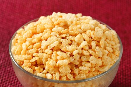 toasted: Bowl of toasted rice cereal