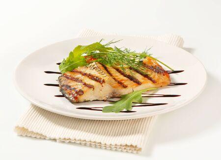 balsamic: Grilled carp fillet with balsamic vinegar