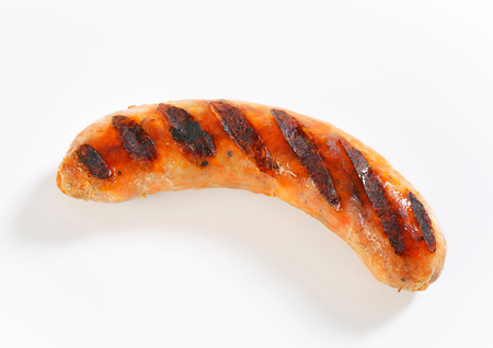 bratwurst: Studio shot of grilled bratwurst
